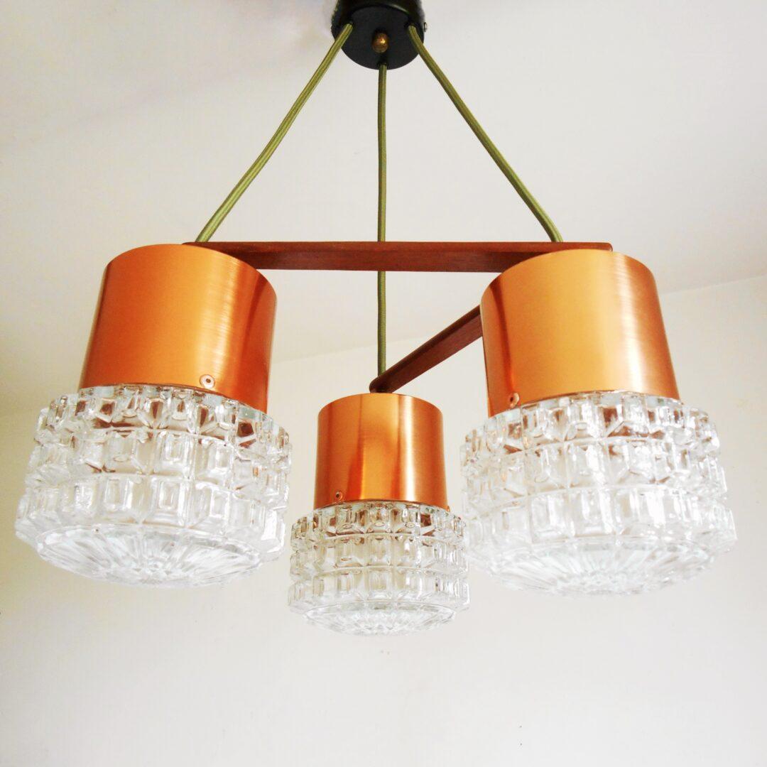 Mid century modern triple drop chandelier by Fiona Bradshaw Designs