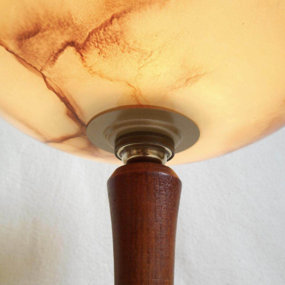 Mid century modern teak table lamp by Fiona Bradshaw Designs
