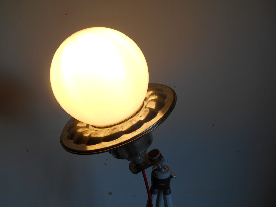 Vintage camera tripod lamp with a unique character by Fiona Bradshaw Designs