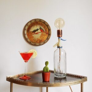 Vintage soda syphon table lamp by Fiona Bradshaw Designs