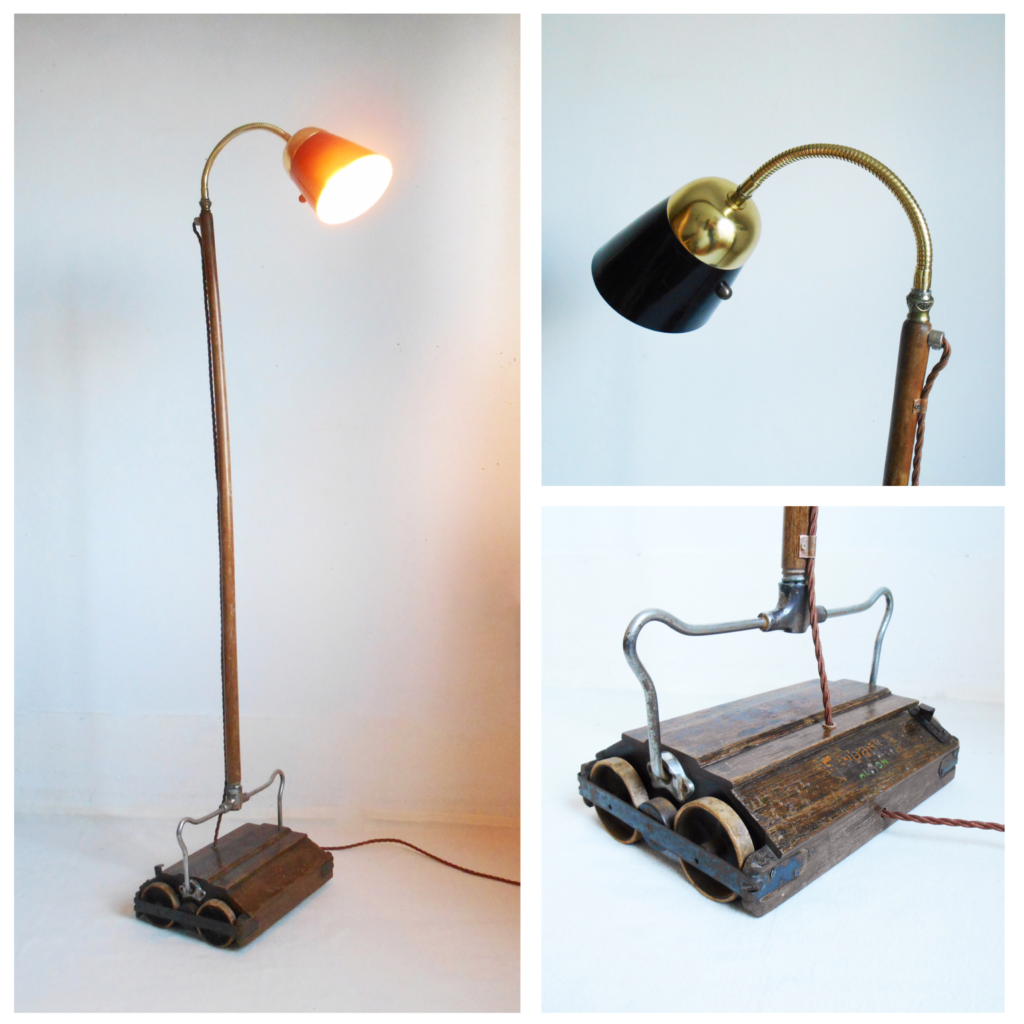 Mechanical hoover lamp by Fiona Bradshaw Designs