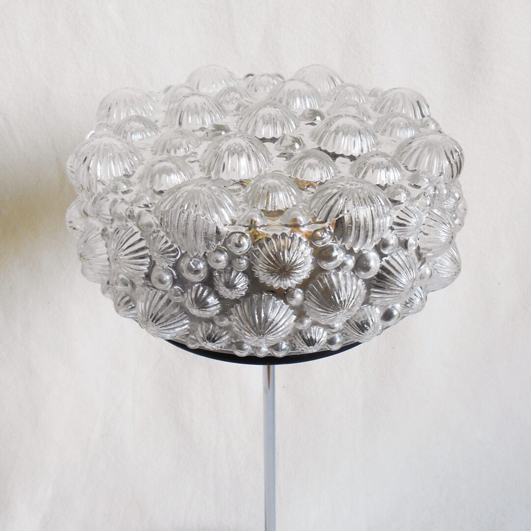 Retro cut glass and silver chrome table lamp by Fiona Bradshaw Designs