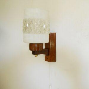 Mid century modern Danish teak wall lamp by Fiona Bradshaw Designs