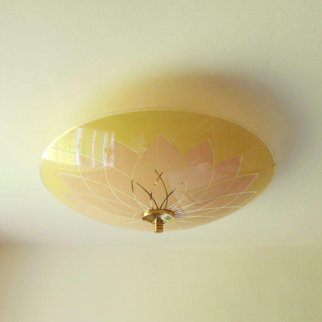 Original Art Deco semi flush ceiling lamp by Fiona Bradshaw Designs