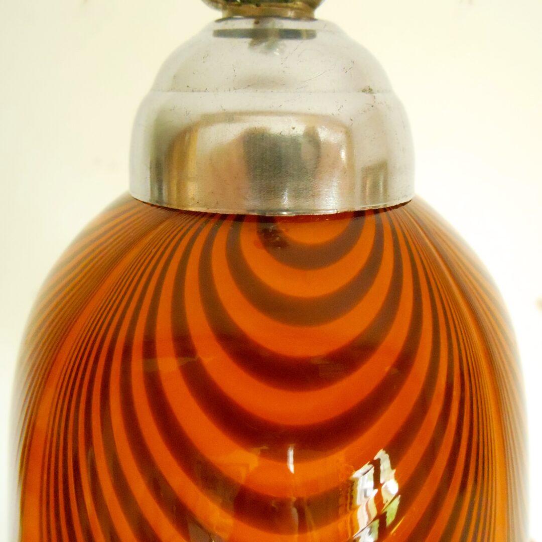 A sweet orange retro pendant lamp by Fiona Bradshaw Designs
