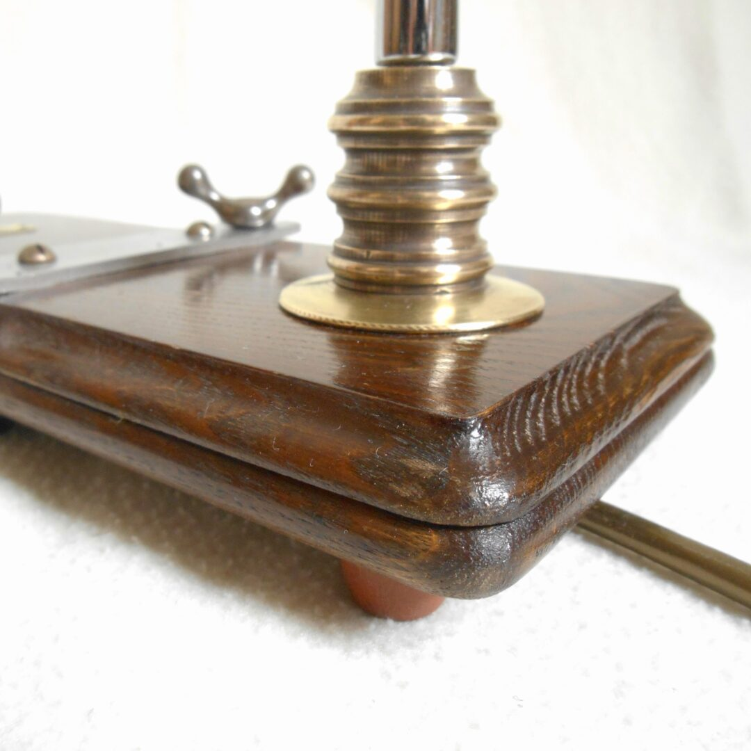 A vintage tie press adjustable desk lamp by Fiona Bradshaw Designs