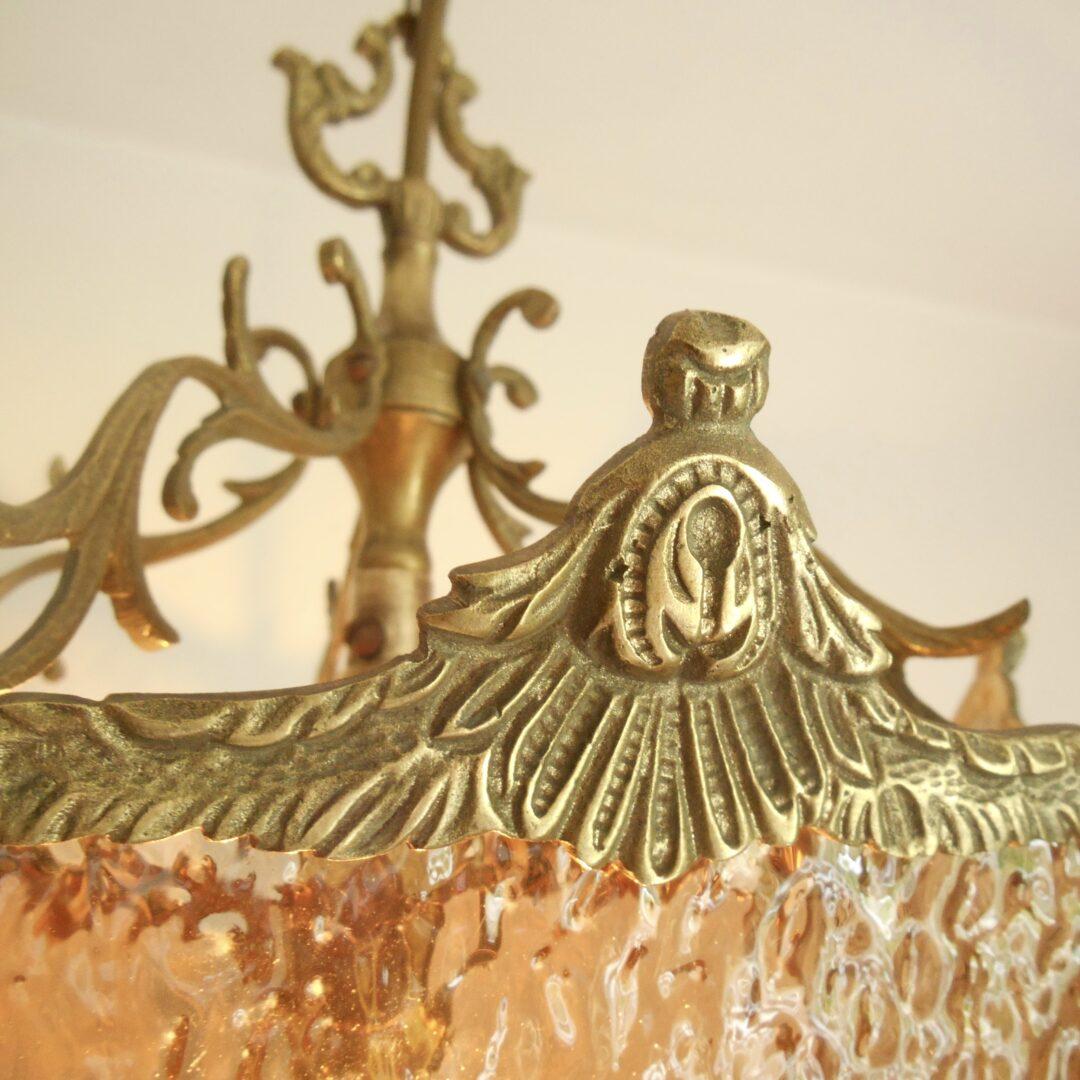 French antique ornate brass lantern by Fiona Bradshaw Designs